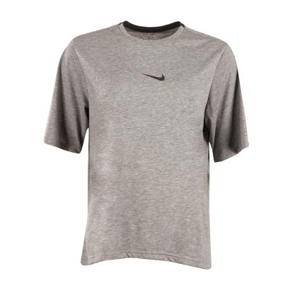 Nike Womens Dri-Fit Training Tee Carbon Heather - Front