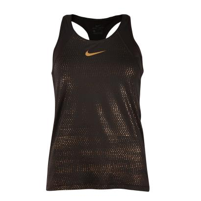 Nike Womens Metallic Dot Tank Black - Front