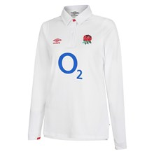 England Womens Classic Home Rugby Shirt L/S 2021 - Front