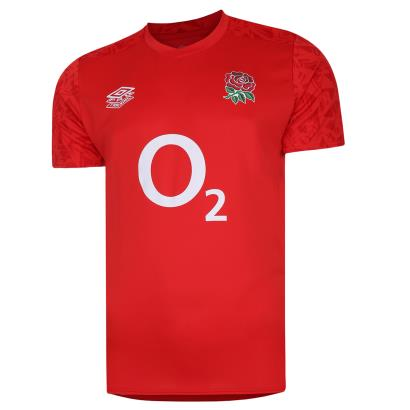 England Gym Tee Flame Scarlet 2021 front