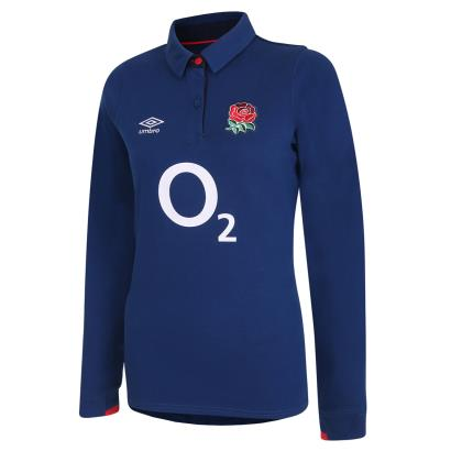 England Womens Classic Alternate Rugby Shirt L/S 2021 - Front