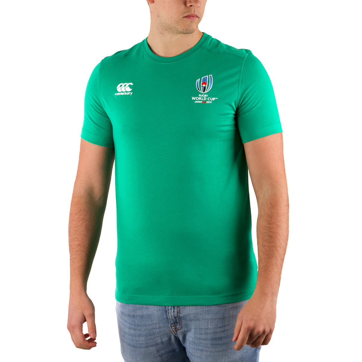 Green Canterbury Rugby World Cup 2019 Cotton Tee Shirt | rugbystore