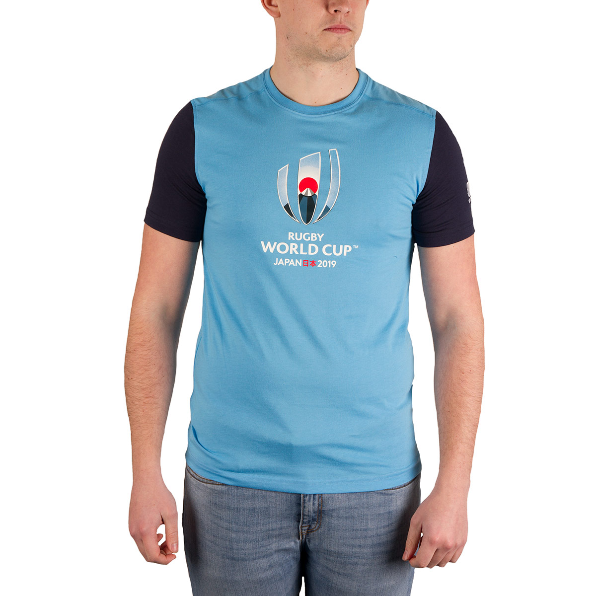 e17c151843 Mens Lava Blue Canterbury Rugby World Cup 2019 Cotton Jersey Graphic Tee  Shirt