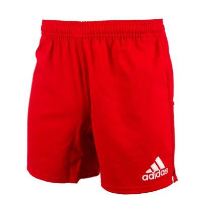 adidas 3 Stripe Rugby Shorts Red - Front 1