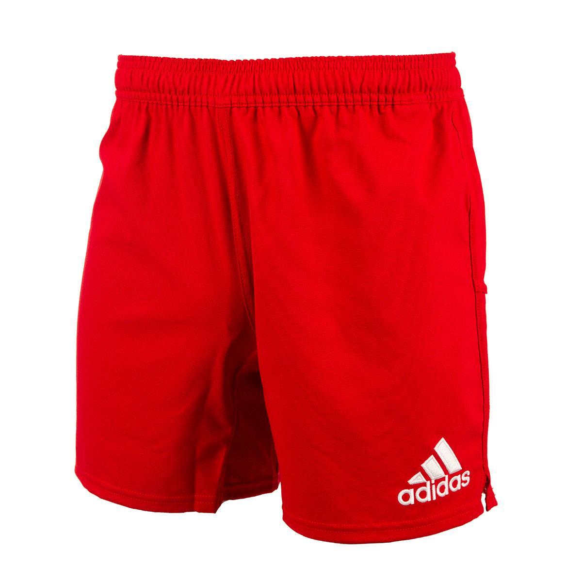 0757f8b859 Mens Red adidas 3 Stripe Rugby Shorts | rugbystore