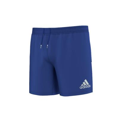adidas 3 Stripe Rugby Shorts Bold Blue - Front