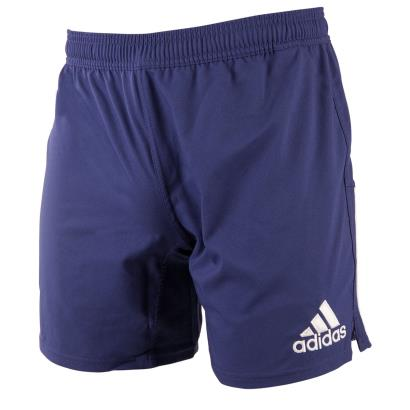 adidas 3 Stripe Rugby Shorts Navy - Front 1