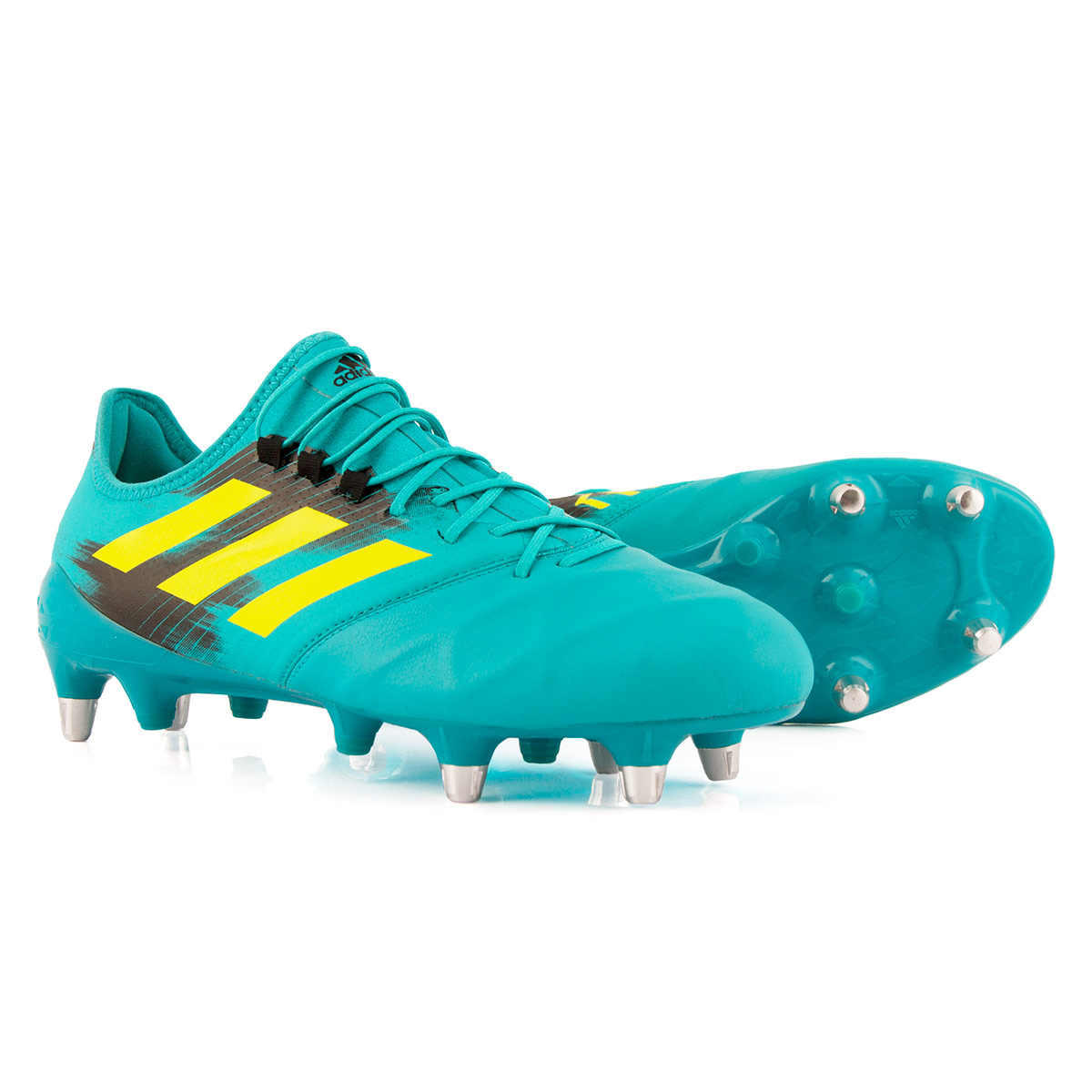 Hi Res Aqua adidas Kakari Light Soft Ground Rugby Boots  74fad6090815