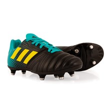 adidas All Blacks SG Rugby Boots Hi Res Aqua Kids - Front NEW