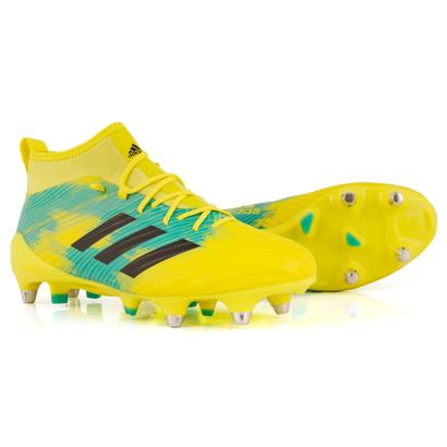 adidas Predator Flare SG Rugby Boots Shock Yellow - Front