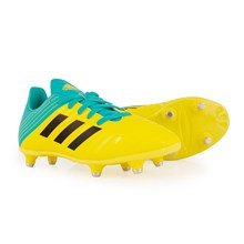adidas Malice SG Rugby Boots Shock Yellow Kids - Front NEW