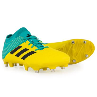 adidas Malice Elite SG Rugby Boots Shock Yellow - Front NEW