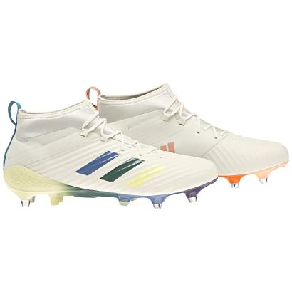 adidas Predator Flare SG Rugby Boots Cream White - Front