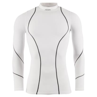 Atak Compression Top White - Mens Front