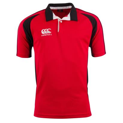 Canterbury Teamwear Focus Shirt Scarlet/Black Kids - Front