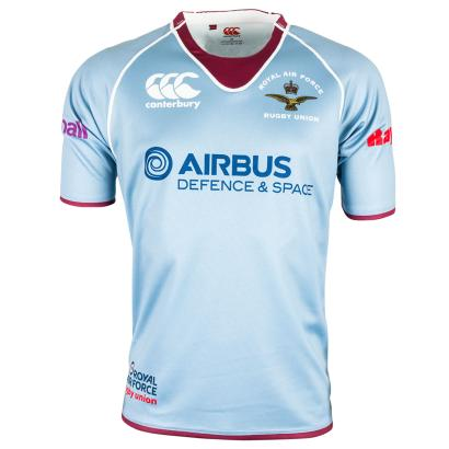 RAF XV's Home Rugby Shirt S/S - Front