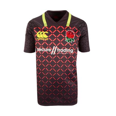 England 7's Pro Alternate Rugby Shirt S/S Kids 2018 - Front
