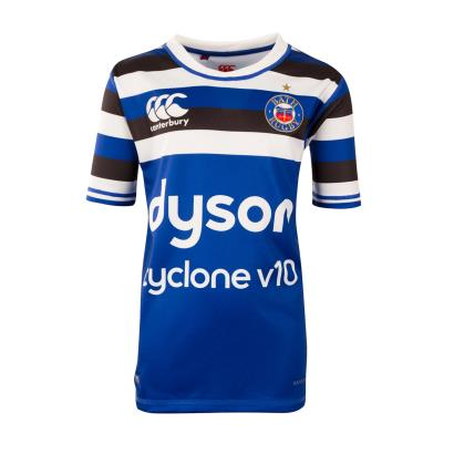 Bath Vapodri Pro Home Rugby Shirt S/S Youths 2019 - Front