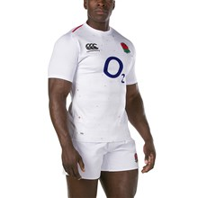 England Vapodri+ Test Home Rugby Shirt S/S 2019 - Model 1