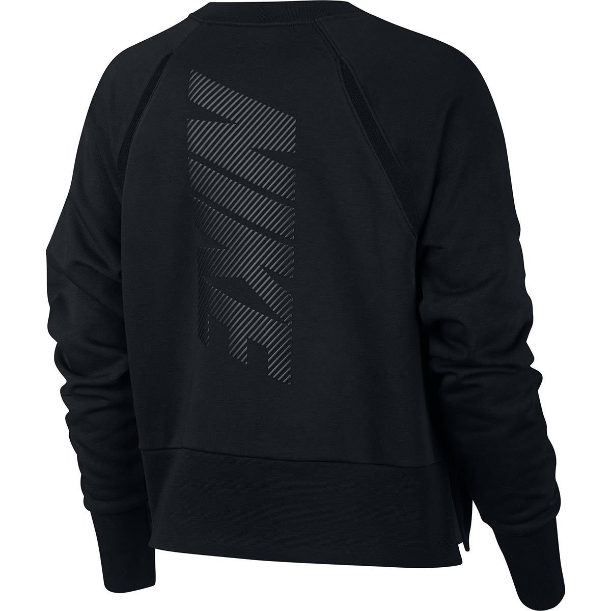 8329bc8ba5a2a ... Nike Womens Long Sleeved Training Top Black - Back