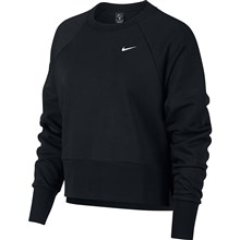 Nike Womens Long Sleeved Training Top Black - Front