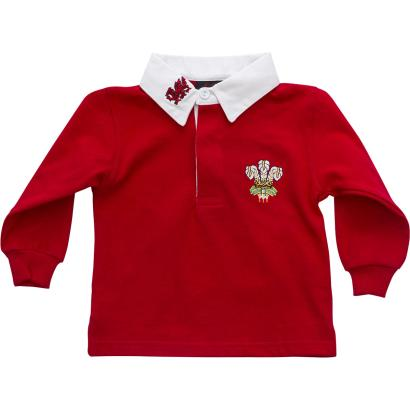 Wales Baby Classic L/S Rugby Shirt - Front
