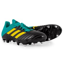 adidas Malice SG Rugby Boots Core Black - Front NEW