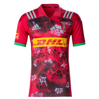 Harlequins Alternate Rugby Shirt S/S Kids 2018 - Front