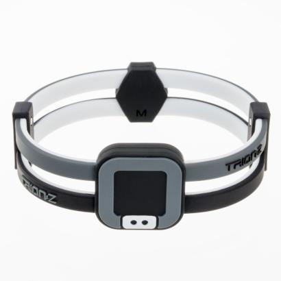Trion:Z Duoloop Bracelet Black/Grey - Front
