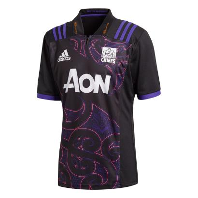 Super Rugby Chiefs Training Shirt Black S/S 2018 - Front