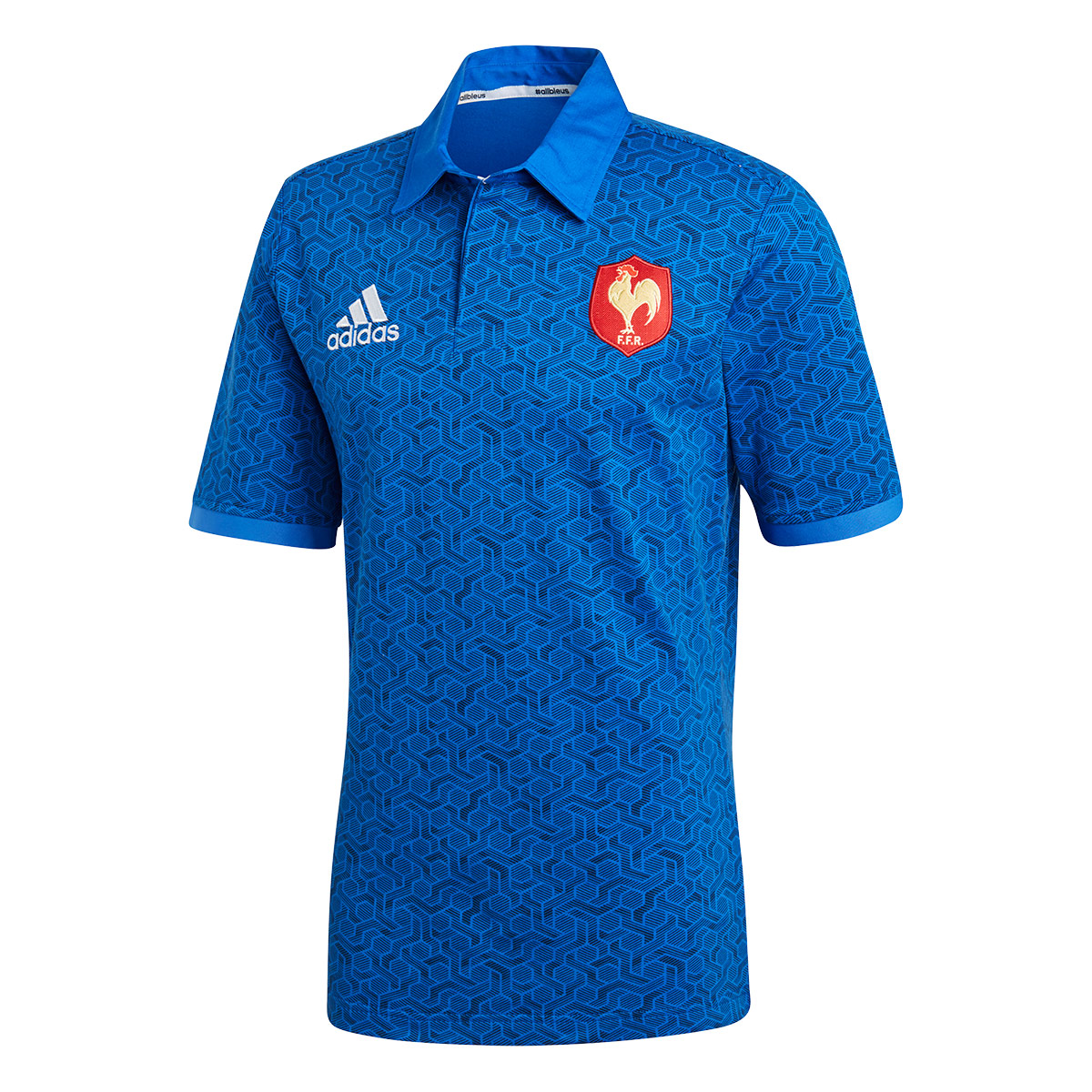 0126b641f39 2018 Mens France Supporters Home Rugby Shirt (Short Sleeved ...