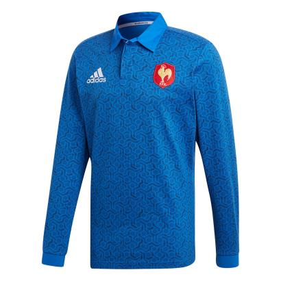 France Supporters Rugby Shirt L/S 2018 - Front