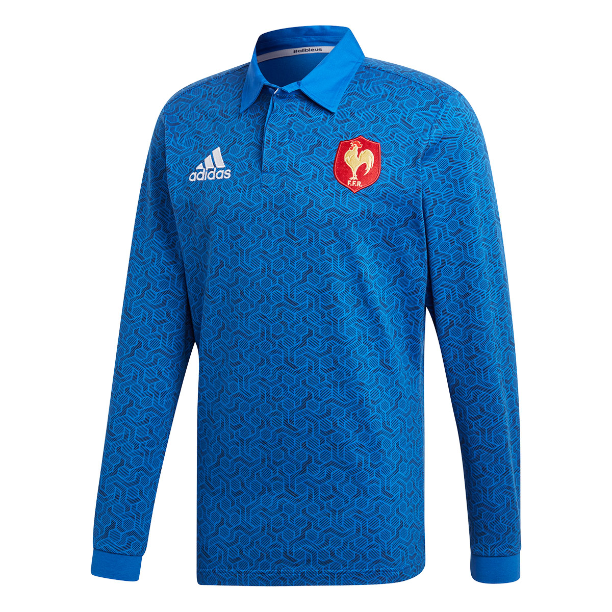 3b22aab960e 2018 Mens France Supporters Home Rugby Shirt (Long Sleeved) | rugbystore