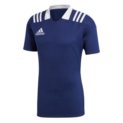 adidas 3S Rugby Match Shirt S/S Navy - Front