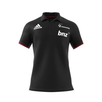 Super Rugby Crusaders Polo Black 2018 - Front