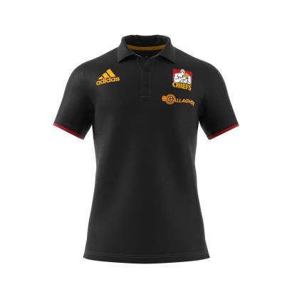 Super Rugby Chiefs Polo Black 2018 - Front
