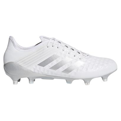 adidas Predator Malice Control SG Rugby Boots White - Side 1