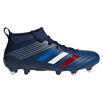 adidas Predator Flare SG Rugby Boots Collegiate Navy - Side 1
