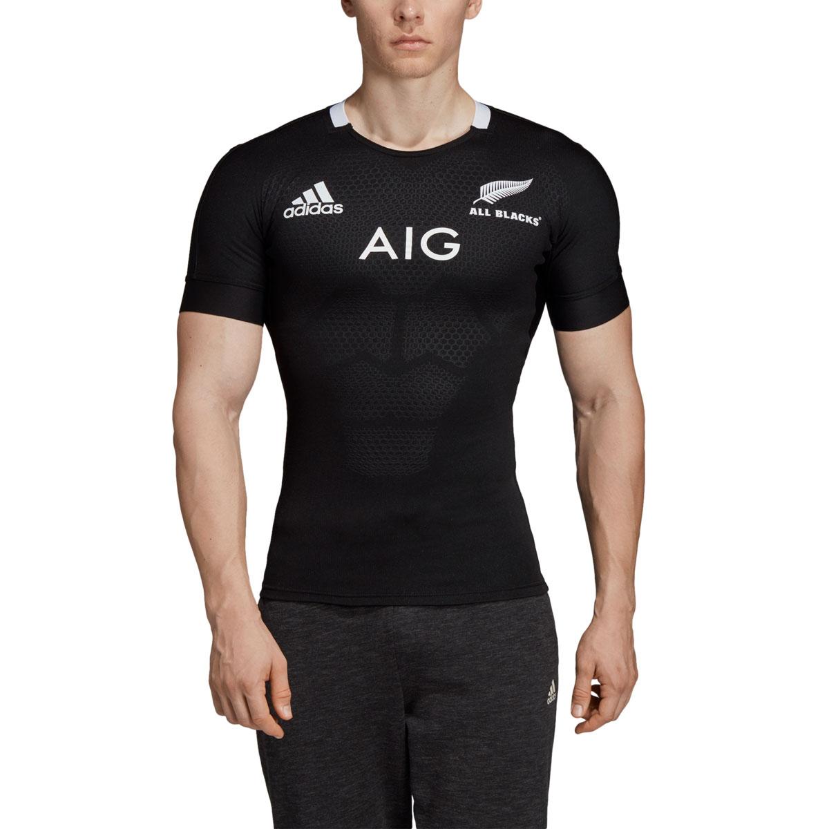 3348dc0e67f 2019 Mens All Blacks Performance Home Rugby Shirt (Short Sleeved ...