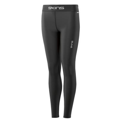 Skins DNAmic Force Thermal Long Compression Tights Black Kids front
