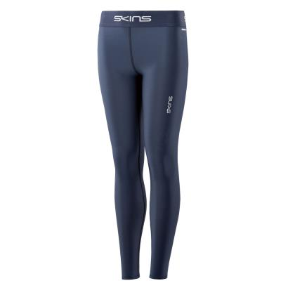 Skins DNAmic Force Thermal Long Compression Tights Navy Kids front