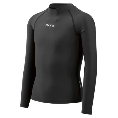 Skins DNAmic Force Thermal Long Sleeve Top Black Kids front
