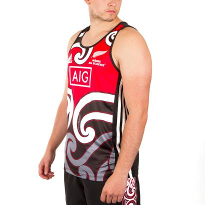 All Blacks Maori Singlet Black 2019 - James Front 1