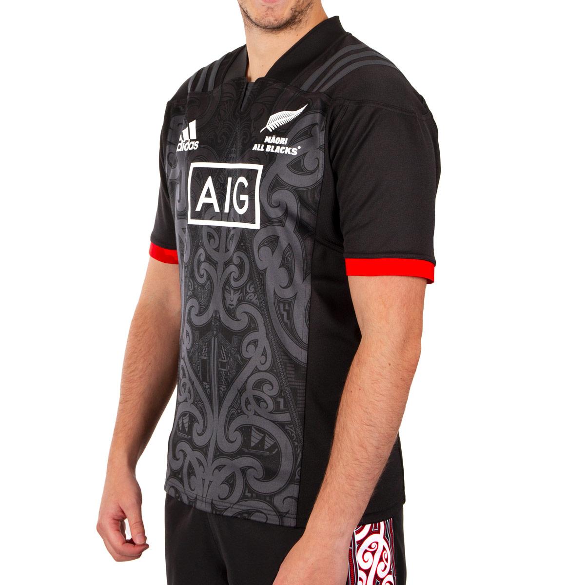low priced c320c 5c31c 2019 Mens All Blacks Maori Rugby Shirt (Short Sleeved)