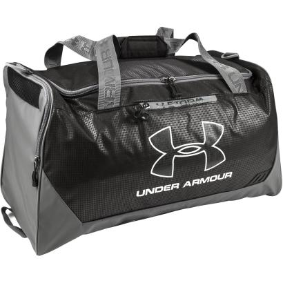 Under Armour Hustle Medium Duffle Black - Front