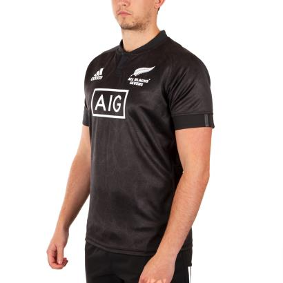 All Blacks 7's Home Rugby Shirt S/S 2019 - James Front