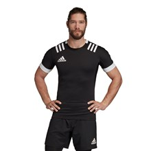 adidas 3S Rugby Match Shirt Black - Model 1