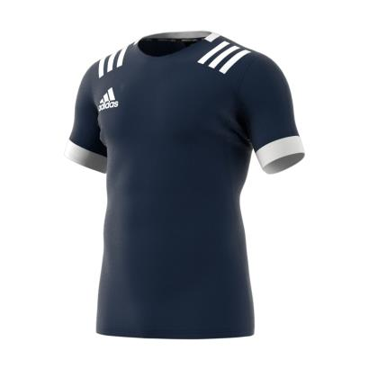 adidas 3S Rugby Match Shirt Navy Kids - Front