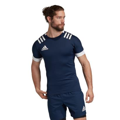 adidas 3S Rugby Match Shirt Navy - Model 1