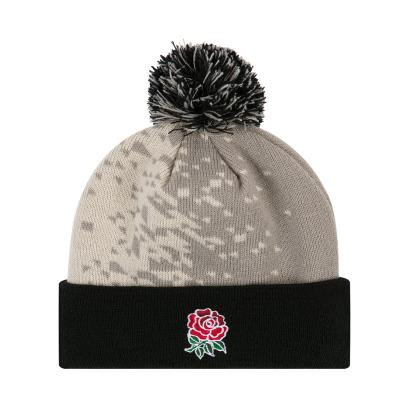 England Acrylic Bobble Hat Oyster Grey 2019 - Front 1